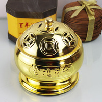 Buddha with copper alloy incense burner incense coil frame pure sandalwood furnace incense stove utensils