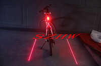 Riding essential! 5 LEDs Cool genuine super bright new laser safety bicycle taillight bike taillight Sports Laser Tall Light