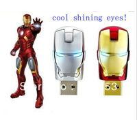 T100 free shipping The unique iron man model USB 2.0 Enough Memory Stick Flash pen Drive   4-128GB