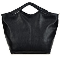 Winter women's handbag brief rivet bag vintage bags all-match large bag handbag black