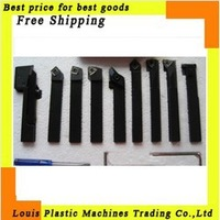Free shipping 12mm*12mm/9pieces Indexable,  hard alloy Turning Tool, lathe tool Kits cutter, best price in Aliexpress