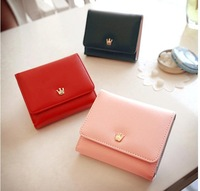 Lostem Ms han edition wallet J1203 Korea metal crown brief paragraph wallet purse handbag thirty percent