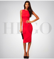 wholesale top quality Fashion HEGO Bqueen  Europe and US  new simple T-shirt Sexy Halter Dress Party Party H580 bandage dress