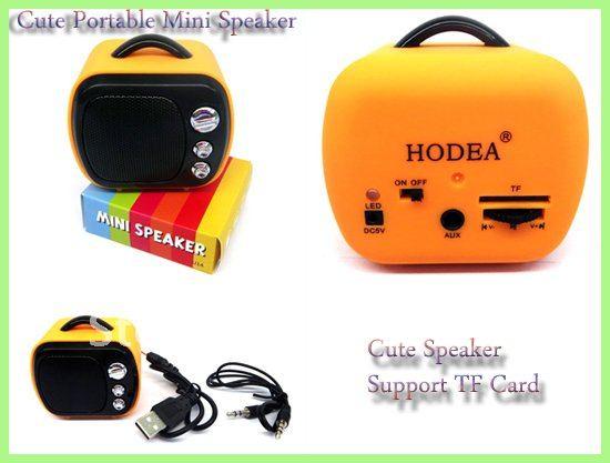 Wholesale Free Shipping!Portable Mini Speaker+Mobile Sound Box+MP3/MP4 Speaker+Supports TF Card+FM Radio 10pcs/lot(China (Mainland))