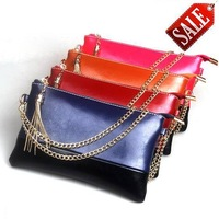 New arrival 2013 genuine leather cowhide women's handbag day clutch female fashion vintage clutch bag,4colors available