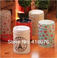 6pcs/lot Lovely Min Tea Canister Carrying on Mini Tin Box  Round Shape Multi-Use Storage Box mixed Designs Hot Seling! T1500