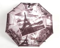 Free shipping 2013 New Eiffel Tower Pattern Automatic Umbrella Folding umbrella Automatic umbrella