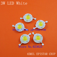 Factory direct sales: high quality 3W white high power LED 200-220LM  EPISTAR CHIP 6500-7000K  Free Shipping 30pcs/lot