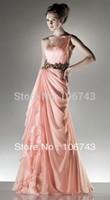 free shipping hot sale maxi custom 2015 new Sexy brides maid vestido de festa one shoulder long applique Formal Evening dress
