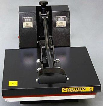 Manual heating press transfer printer for cloth-4050,110/220V,CE,handy customized screen printing equipment/machinery of apparel(China (Mainland))