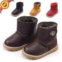 free shipping Child boots infant snow boots waterproof male child cotton-padded shoes female child boots