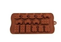 DIY Silicone Cake Chocolate Soap Mold Cartoon Winnie the Trojan car styling silicone bakeware 20pcs/lot Free shipping wholesale