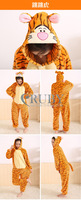 100% High-quality New Adult Unisex Kigurumi Pajamas Cosplay Japan Costumes Cute Animal Jumping Tiger Onesies Pyjamas