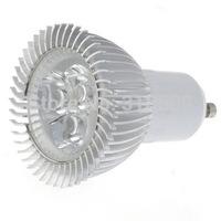 Free Shipping! 2 pcs GU10 3W 280~300LM 6000~6300K 3-LED White Light Bulb (90~265V)