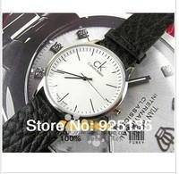 2014 new free shipping fashion quartz watch Male watch  commercial elegant male watch genuine leather watch