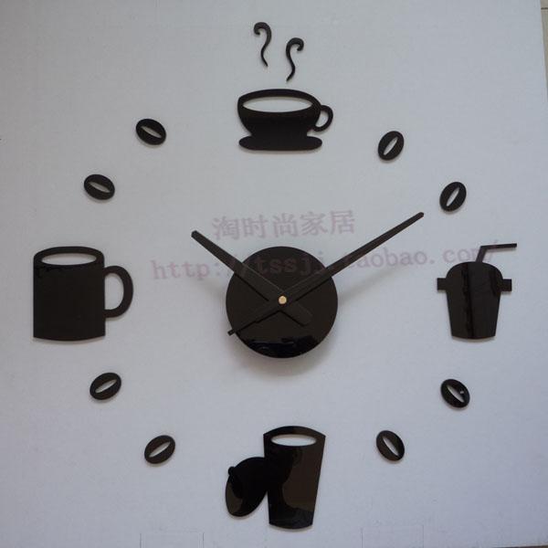 Muurstickers Keuken Bon Appetit : Coffee Wall Clock