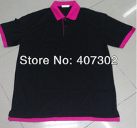 DIY Wowen's Double Coilneck Black Blue Turn-down Collar Polo Shirt Can Printed/ Embroid Any Designs Good Price