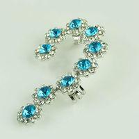 wholesale zircon clip on earrings fashionable earrings jewelry stylish earrings 24 unit  / lot FREE SHIPPING