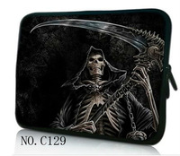 "Sickle skull 10""  Laptop Sleeve Bag pouch Case For iPad 4 3 2 1/ 10.1"" Samsung Galaxy Tab /note"