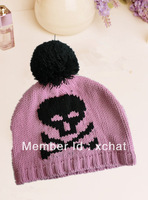 100% acrylic  Korea style knitting winter hat