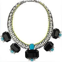 Free Shipping(min order $15 +gift) 2013 June On Sale! Handmade Pearl Glass Statement Necklace JC Premium Neon Thread Necklace