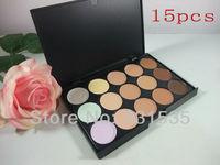 1pcs New top quaity brand makeup 15 color  professional Concealer Palette  Nature  plate primer makeup free shipping