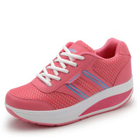 Light sport shoes female slimming swing shoes elevator shoes running shoes female
