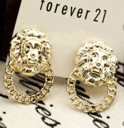 2013 New arrival Free shipping fashion jewelry feather flower neon pearl created gemstone sterling silver diamond stud earrings(China (Mainland))