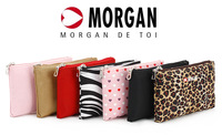 Morgan 2013 brief leopard print cosmetic storage bag waterproof day clutch 7 pocket