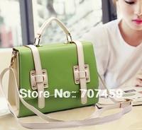 Free shipping!2013 Spring colourful messager bag candy colours shoulder bag blue green purple orange fashion vintage handbag
