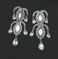 wholesale fashion luxury transparent zircon earrings famous design jewelry 12 pair / lot FREE SHIPPING
