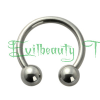 100 pcs 316L stainless sugical steel circular barbell Nostril Nose Ring Mixed sizes Belly Rings bar Tongue/Nipple Ring