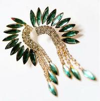 wholesale fashion crystal earrings jewelry fashion zircon earrings hip hop earrings 12pair / lot FREE SHIPPING