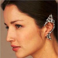 wholesale Retro luxury wizard full diamond earrings fashion ear hook  hip hop earrings 12 unit  / lot FREE SHIPPING