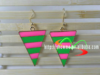 wholesale dangle black white earrings triangle earrings latest 36 unit  / lot FREE SHIPPING