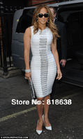 in stock white sequined bandage dress hl 2013 celebrity style party evening dresses wholesale dropshipping
