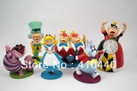 New Alice in Wonderland Figure Play Set -- 6-Pcs loose Figure