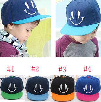 5PCS /Lot Smile Hearts Sun Hat Baseball Hat Kids Summer Adjustable Caps Big Brim Sunbonnet For Baby Girls Boys 4-8 Year Children