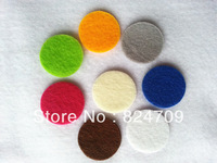 Free Shipping Multiple Color For Select 1mm Thick 2.0*2.0cm Round Felt Accessory Patch Felt Fabric1000pcs/lot