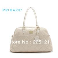 HOT 2013 Beige diamond lattice handbag large capacity portable shoulder bag overnight bag
