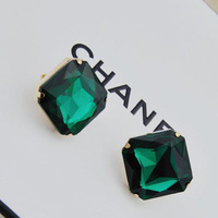 FreeShipping 2013 New Alloy Gold Charm Geometry Resin Vintage Crystal Statement Earrings Fashion Jewelry Gift For Women Hot 0038