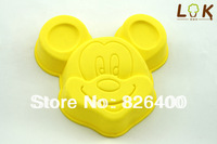 Free shipping wholesale DIY Mickey Mouse  silicone Cake mold / cake mold / muffin mold / soap mold / silicone bakeware