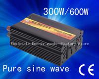HOT selling!300w(Peak 600w) DC12V to AC220V true sine wave power inverter(CTP-300W)