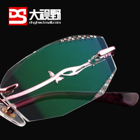 Vision big quality women's diamond glasses diamond glasses Women frame
