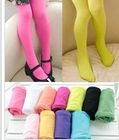 Many colors 6 pieces/lot wholesale ballet panty hose children velvet pantyhose candy color leggings stockings kid's girl's gift