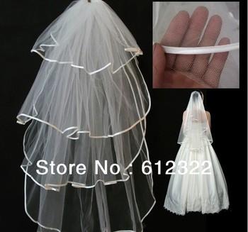 2013 Free shipping !Bridal veil bride hair accessory wedding accessories long veil edge veil yarn