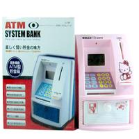 For dec  oration mini automatic piggy bank automatic Small child atm piggy bank blended-color