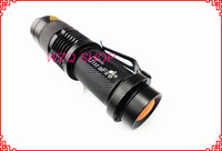 UltraFire 7w 300lm Mini Cree Q5 Led Flashlight Rechargeable Torch Adjustable Zoomable Focus Zoom Light Lamp