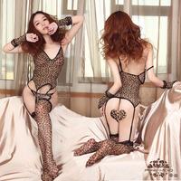 Leopard print set temptation sexy cat women's rabbit lady women's sexy underwear pants multiple 9822 one-piece set