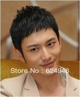 Hot selling!!!Handsome male hairstyles short hair short  bangs wig  free shipping